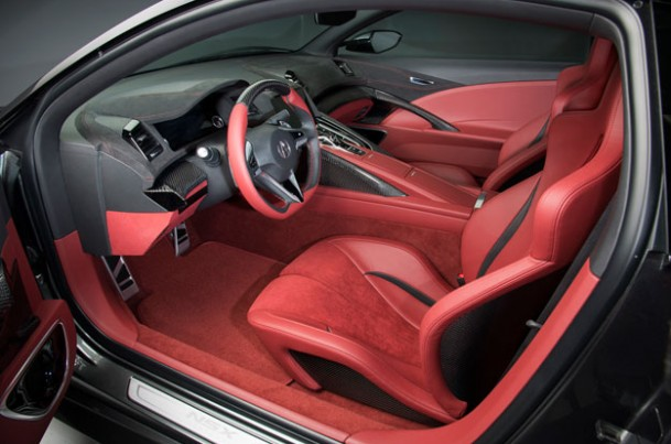 Acura NSX interior    source: Honda