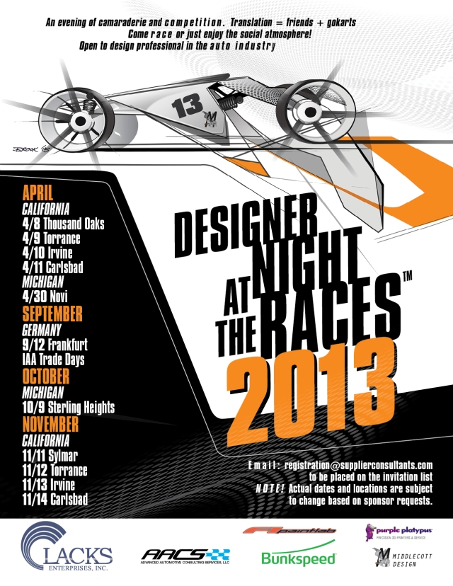 Designer Night Flyer 2013 Save the Dates 150dpi new