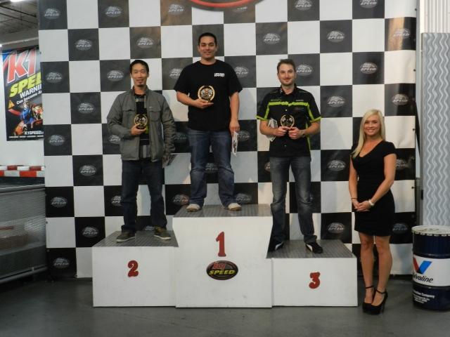2ns Chris Bao/Tesla, 1st Rudy Carruolo/Honda, 3rd David Randle/Bunkspeed