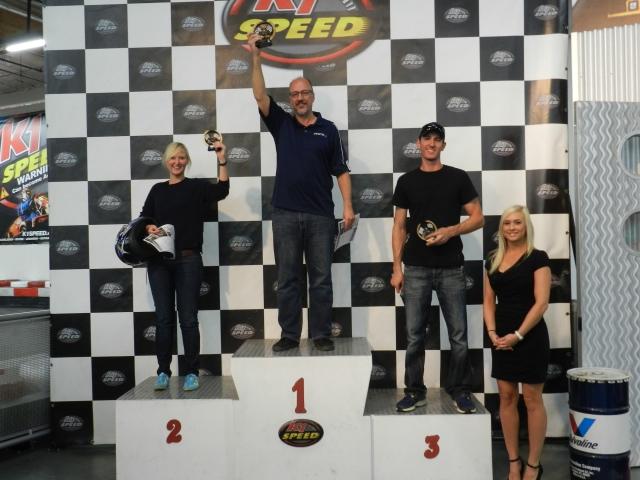 2nd Sue Neuhauser/Tesla, 1st Frank Schwartz/AACS, 3rd Cullen Quantock/GM