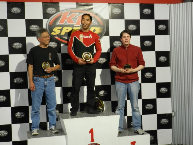 A-Main Results:  2nd Thomas Nishida/Mercedes, 1st randy Rodriguez/Nissan, 3rd Carsten Guenther/Mercedes