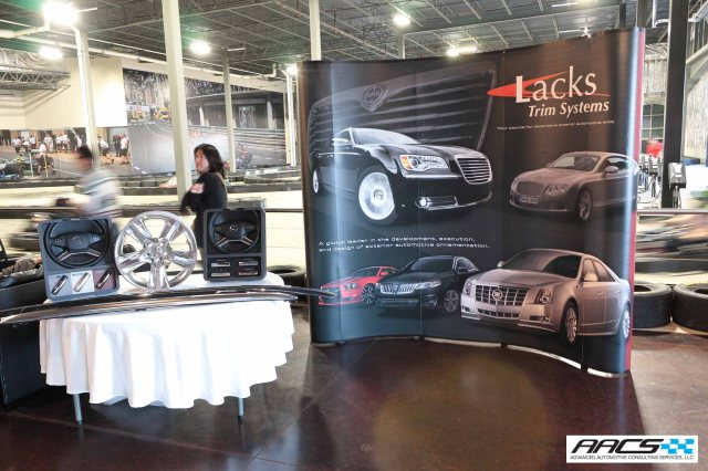 Lacks' premium metal finishes were on display