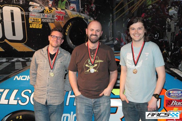1st Place Micah Jones of GM, 2nd Place Vlad Kapitanov of GM and Ryan Blodi of Ford in 3rd Place