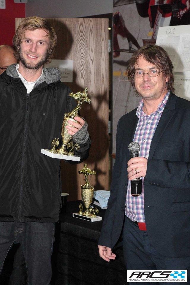 2nd place Luke Mack of CCS with Sketchbattle founder Brook Banham of Middlecott Design