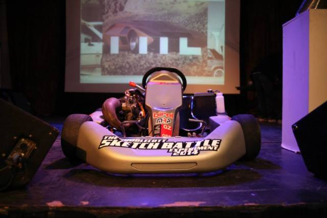 Sponsor F1PaintLab brought their race kart     Photo: Allison Kruske