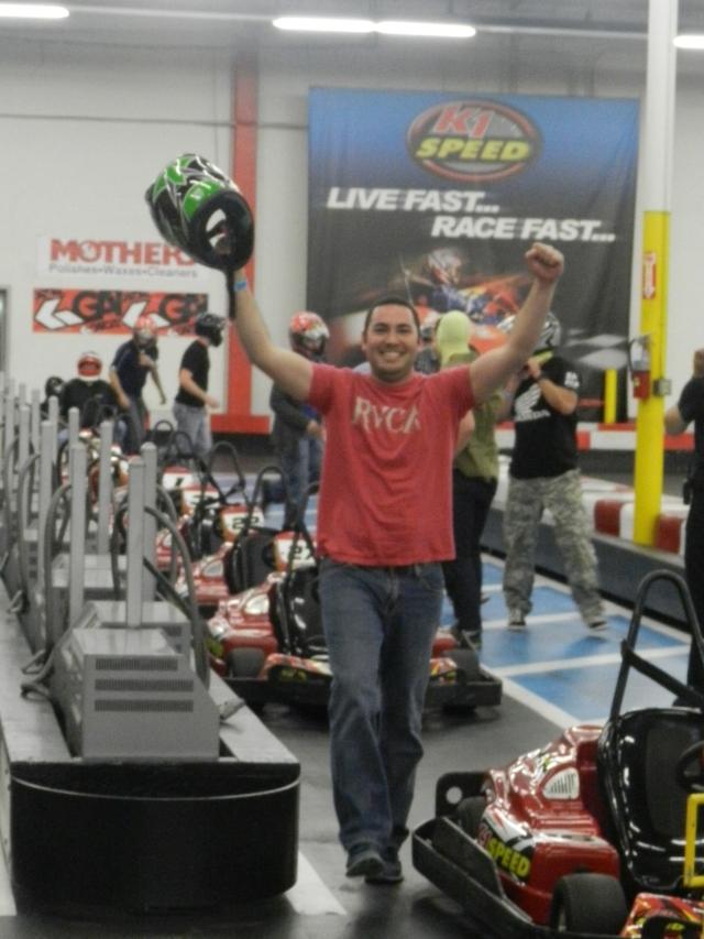 Jeremy Rolon celebrates his win