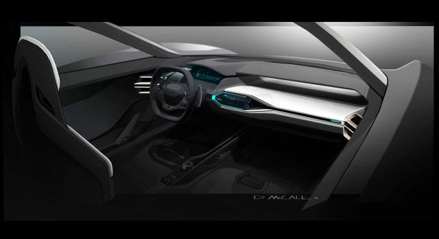 Rendering by David McCall_Ford GT interior