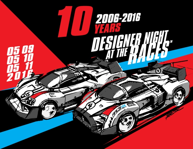Designer Night at the Races 2016 Spring save the date 10 years e-flyer