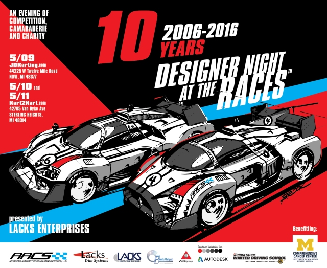2016 Designer Night at the Races e-flyer