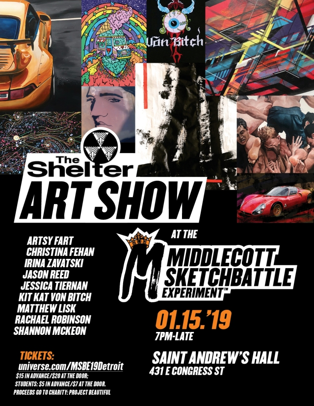 art show at the shelter